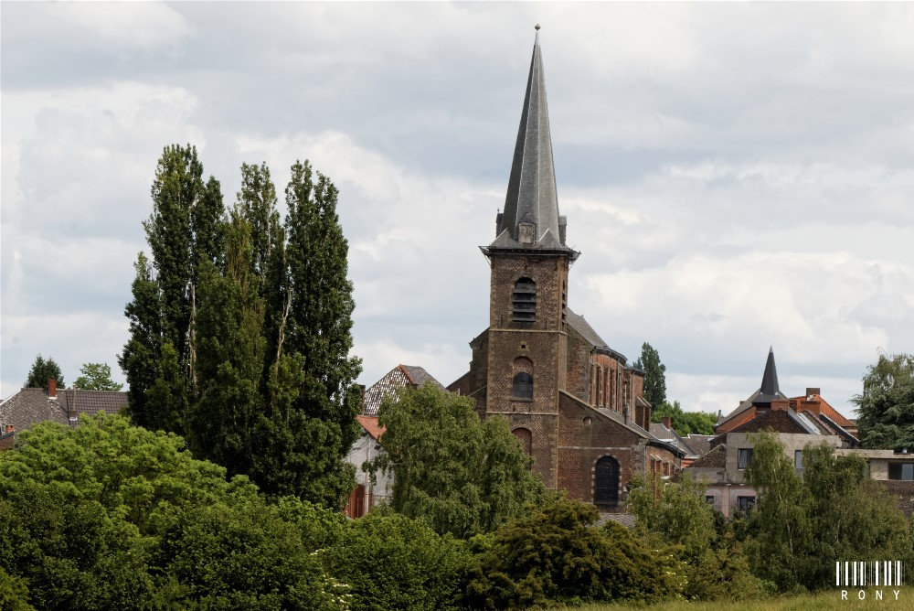 Vue sur l'Eglise Saint-Michel (Pâturages)