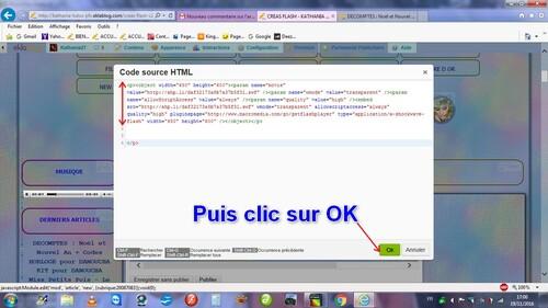 INSERER UN CODE HTML dans EKLABLOGPopou