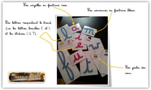 Outils élèves - Lettres rugueuses