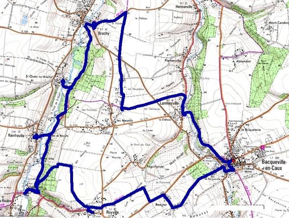 (76) Entre Saâne et Scie, balade sur les GR221 et GR221B;