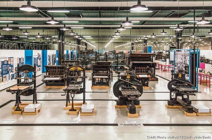 Machines à l'Atelier musée de l'imprimerie, AMI