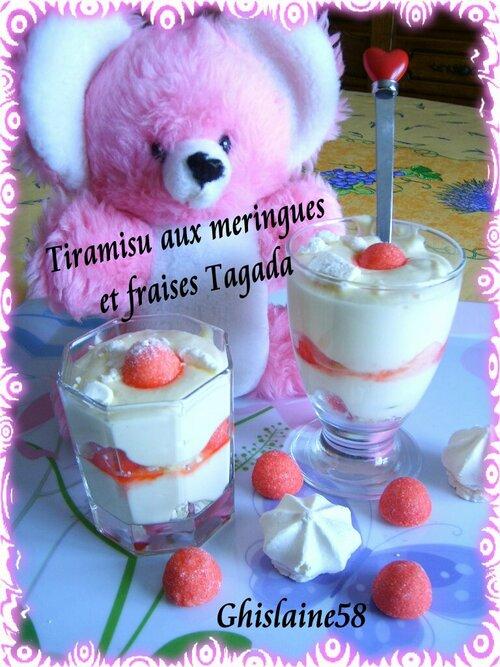 Tiramisu aux meringues et fraises Tagada