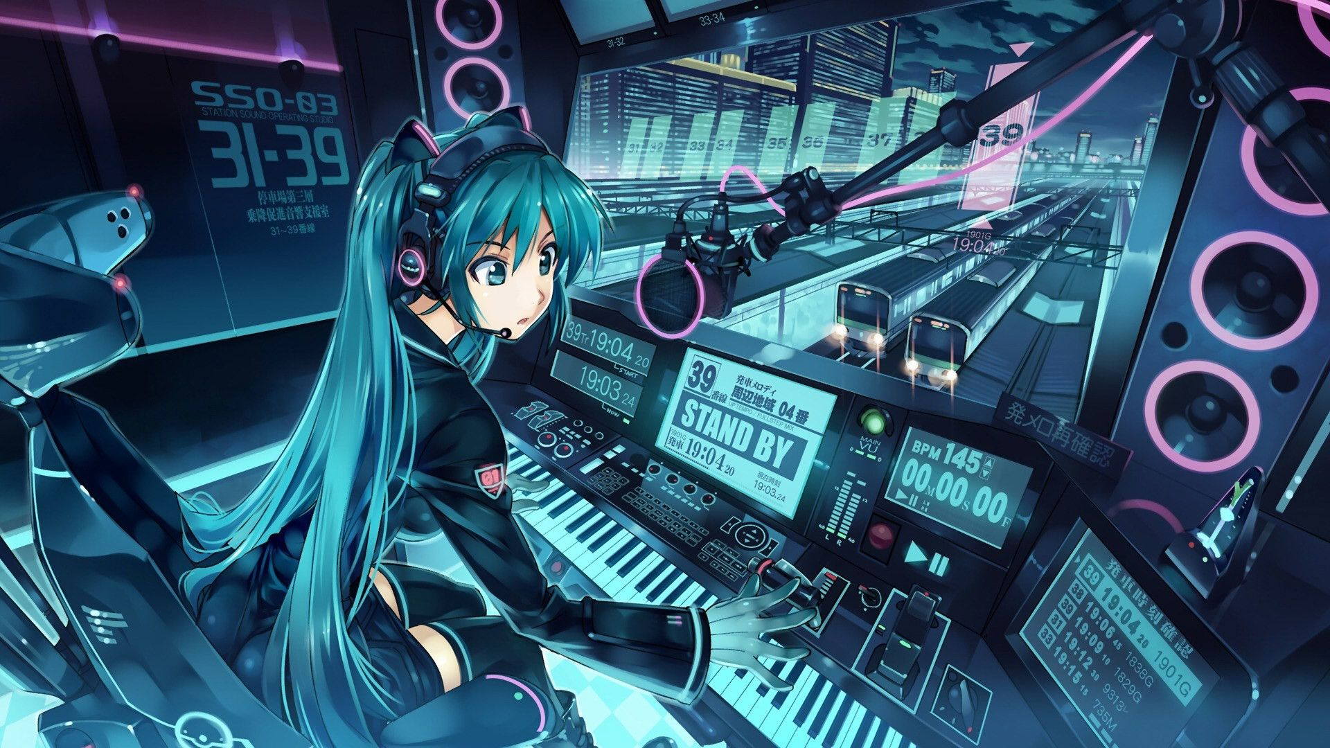 Image result for home studio miku