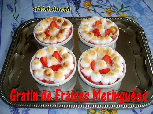 Gratin de fraises meringuées
