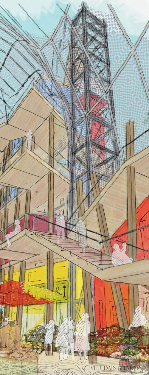 La Maison des Villes, Passage couvert.