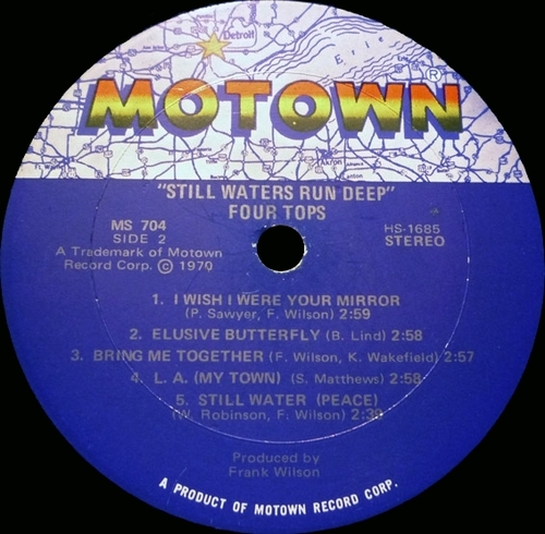 "The Four Tops : Album "" Still Waters Run Deep "" Motown Records MS 704 [ US ]"