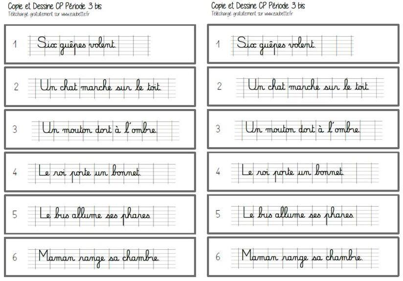 Copie et dessine période 3 - CP