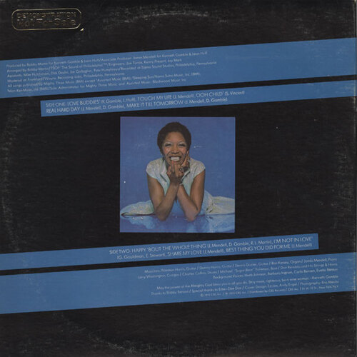 """1975 : Dee Dee Sharp : Album """" Happy 'Bout The Whole Thing """" TSOP Records PZ 33839 [ US ]"""