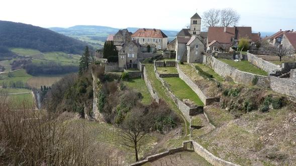 (39) Balade dans les côteaux du massif de la Haute-Seille, Château-Chalon,...(Jura).