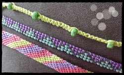 Bracelet multi-rangs aux couleurs du printemps