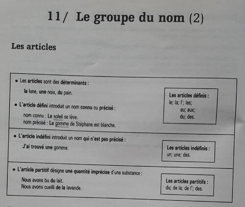B / Les articles