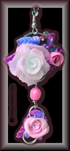 Tube fleur en porcelaine 2983