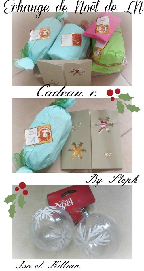 Echange de Noël : ouverture du premier cadeau.