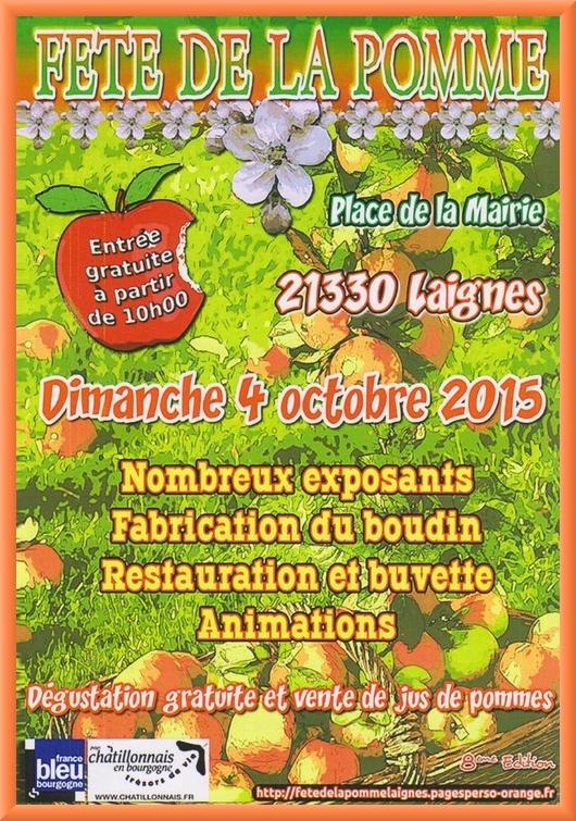 Dimanche c'est la fête de la pomme à Laignes !