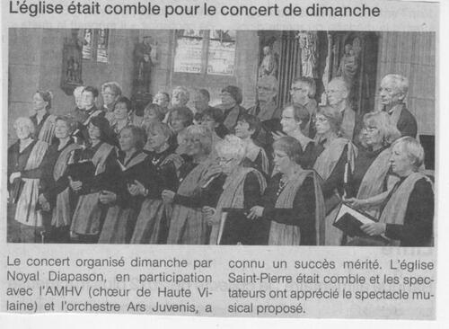 25/11/2012 : Choeur de Haute Vilaine AMHV et ARS JUVENIS