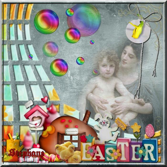 Defi avec son cluster perso  Pâques pour Cerise déco !