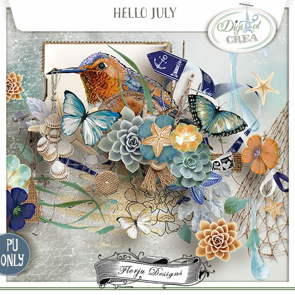 Hello July {Kit PU} by Florju Designs
