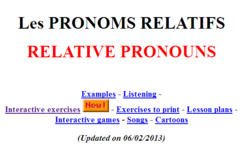 Many activities on relative pronouns