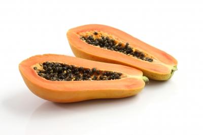 Papaye coupée en 2