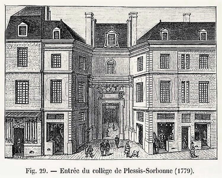 Entrée du collège de Plessis-Sorbonne (1779)