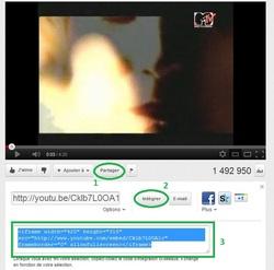 Intégrer une vidéo Youtube