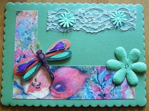 Carte fleur et papillon 9 - 2012