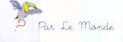"""Notre page """"Par le monde"""""""