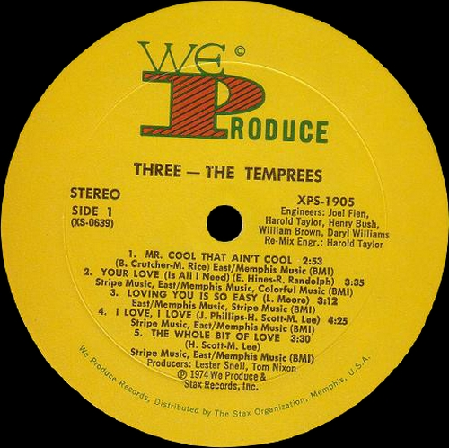 "The Temprees "" Three "" We Produce Records XPS-1905 [ US ]"