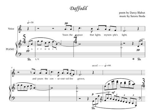 « Daffodil » et « Villanelle » : Deux chants sur des poèmes de Darcy Blahut (PDF)