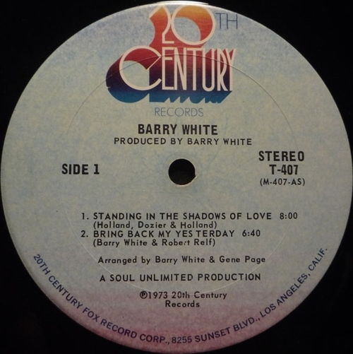 "Barry White 1973 : Album "" I've Got So Much To Give "" 20th Century Records T-407 [ US ]"