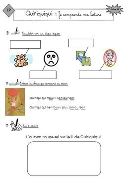 Quiriquiqui : les fiches de lecture