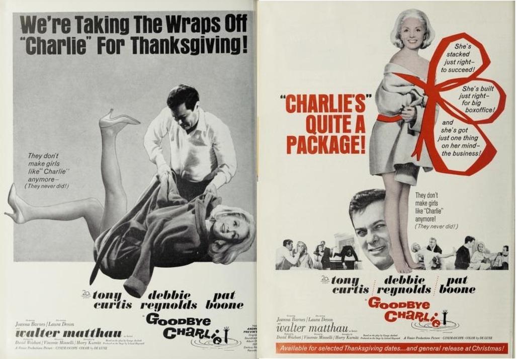 GOODBYE CHARLIE BOX OFFICE USA 1964