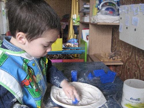 Solides géométriques à la farine