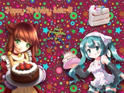 Joyeux anniversaire Saku !!