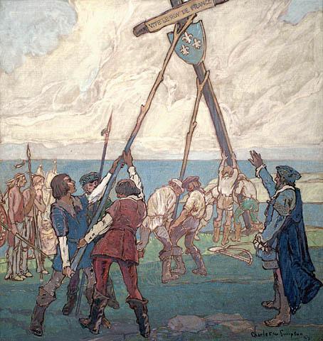 Jacques Cartier à Gaspé, 1534