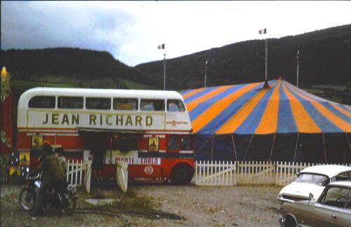 le cirque Jean Richard à Millau en 1969 ( archives J.Cl Murat)