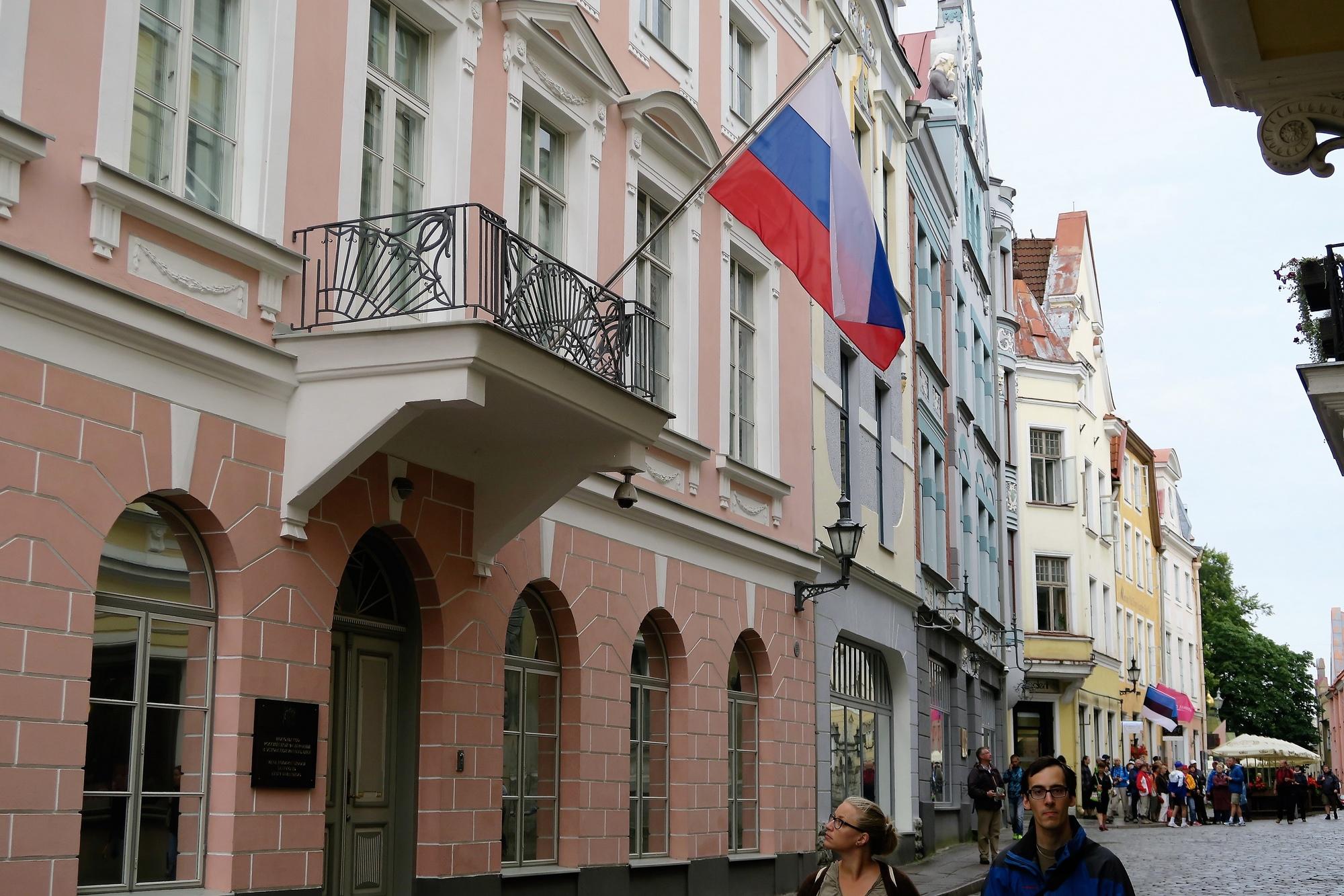 TALLINN (EST) L' ambassade de Russie