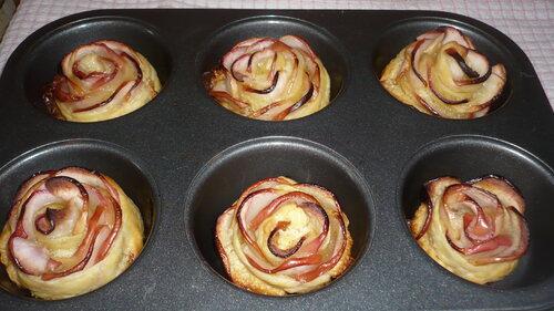 tartelettes aux pommes en forme de roses