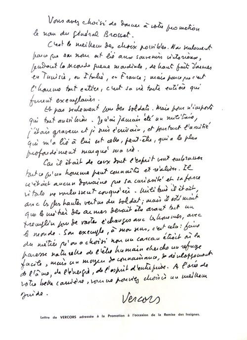 * Etape n° 25 - Hommage au Général Brosset, disparu le 20 novembre 1944