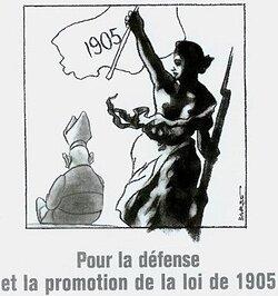 Que faisaient-ils là? Application stricte de la loi de 1905 de séparation des cultes et de l'Etat!