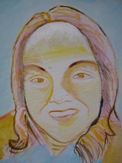 travail en cours, Portrait de Lynda par Lydie