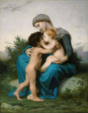 l'amour fraternel, peinture bucolique de William Bouguereau