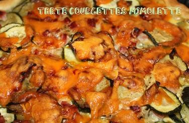 Tarte courgettes-mimolette