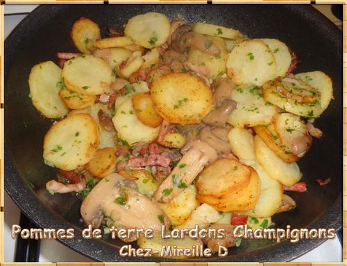 Pommes de terre Lardons Champignons