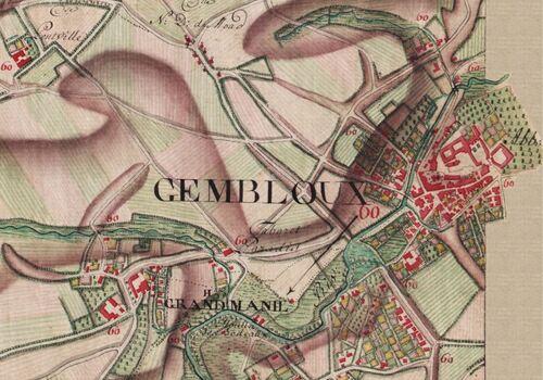 Gembloux (Carte Ferraris, 1777)(kbr.be)