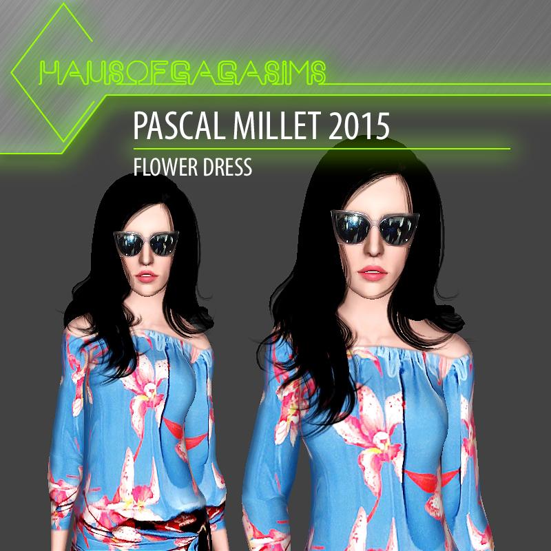 PASCAL MILLET 2015 FLOWER DRESS