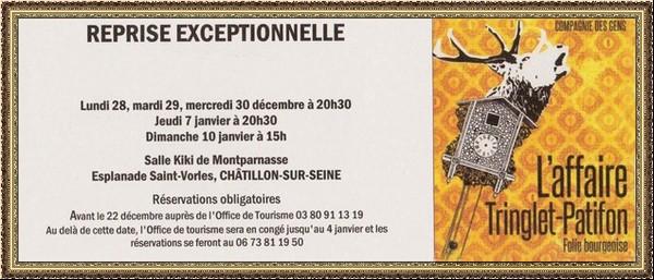 """La Compagnie des Gens propose une reprise exceptionnelle de """"L'Affaire Tringlet-Patifon"""" pour la fin de l'année 2015"""
