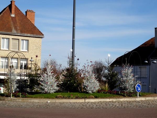 La ville de Châtillon sur Seine décorée pour les fêtes 2015-2016...