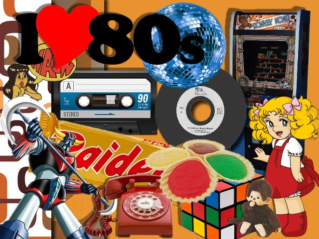 "Kit digiscrap ""I love 80's"""