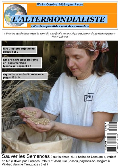 L'Alter : Edito du N°15 - Octobre 2009